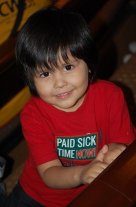 Boy at sick days hearing 3.7.13